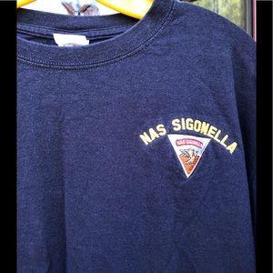 NAS Naval Air Station Sigonella T-Shirt w Patch L